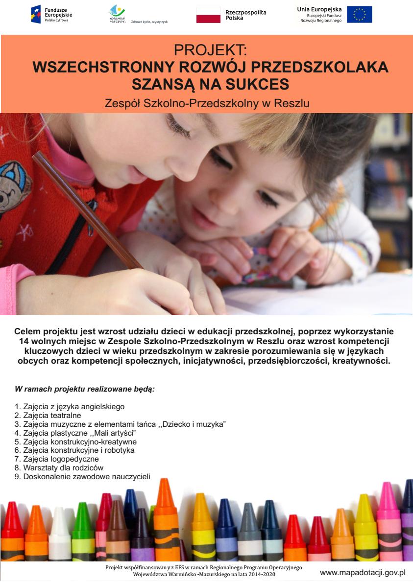 Ilustracja do informacji: Wszechstronny rozwój przedszkolaka szansą na sukces