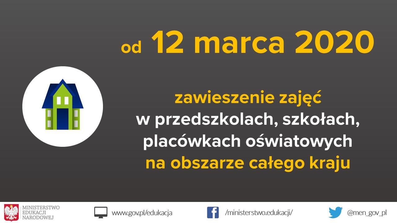 Ilustracja do informacji: Zawieszenie zajęć dydaktyczno-wychowawczych w przedszkolach, szkołach i placówkach oświatowych