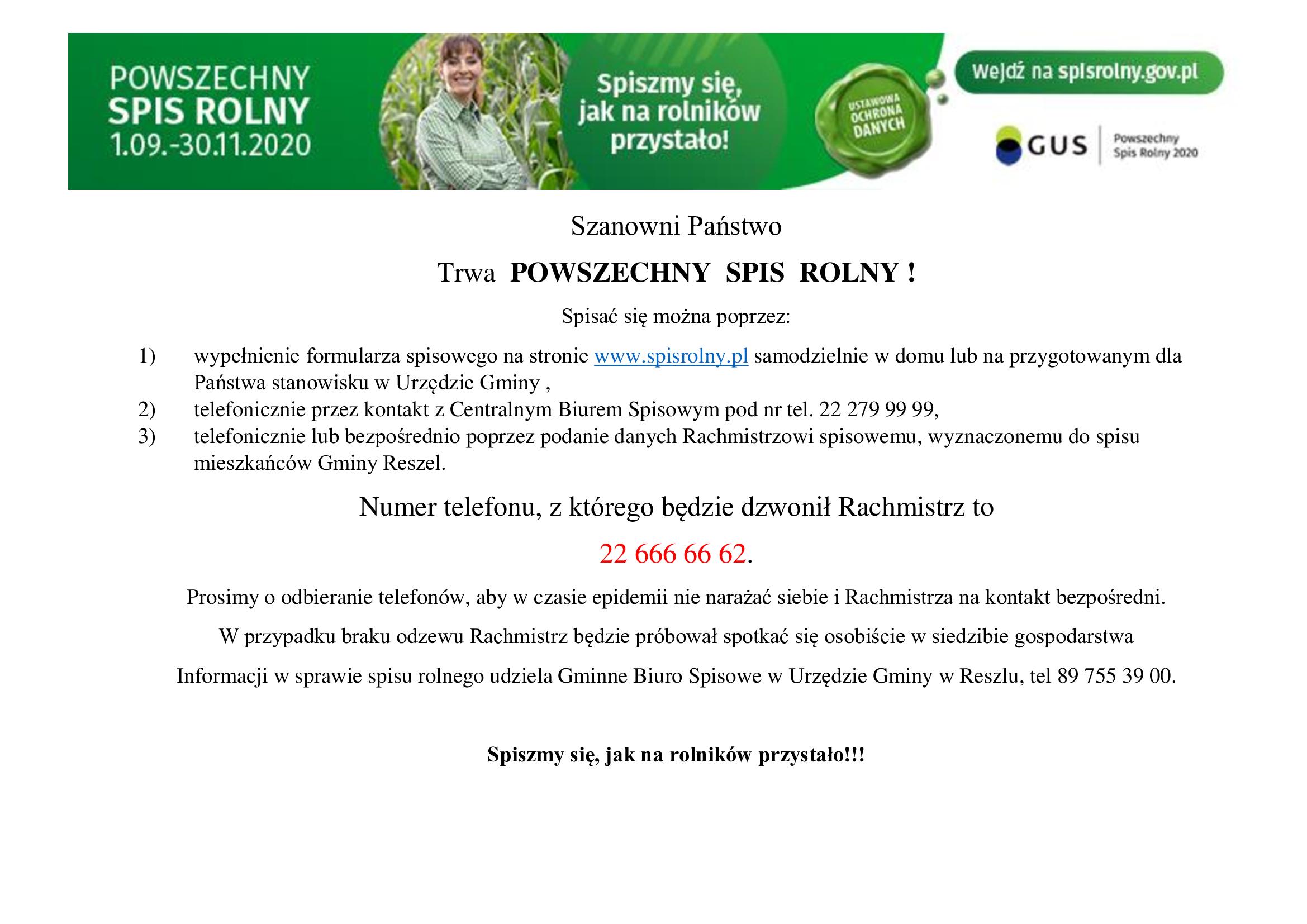 Ilustracja do informacji: Trwa POWSZECHNY SPIS ROLNY