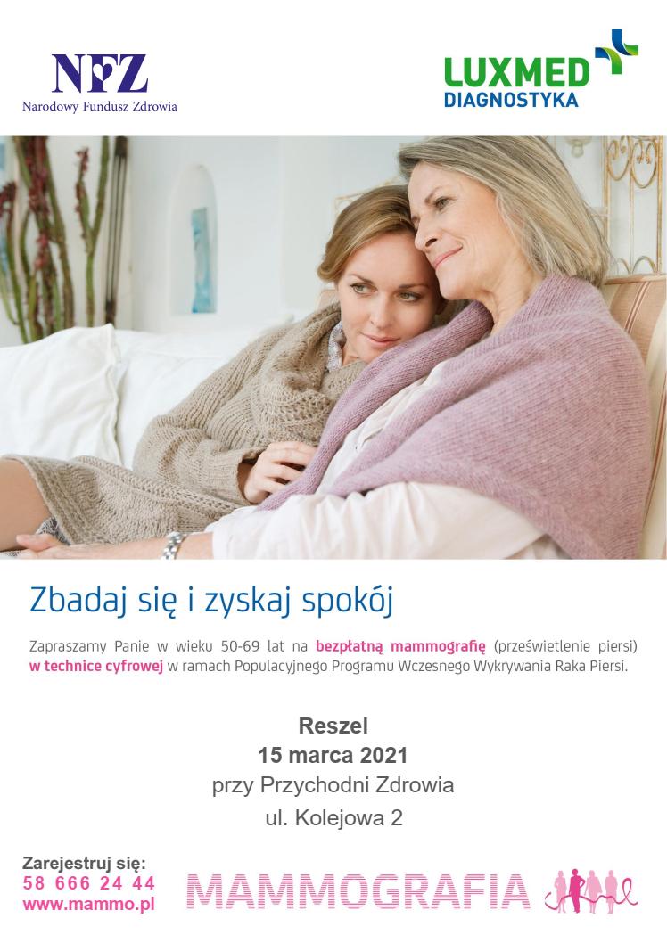 Ilustracja do informacji: Bezpłatna mammografia w mobilnej pracowni mammograficznej LUX MED w marcu 2021