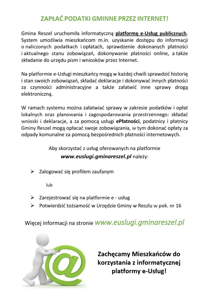 Ilustracja do informacji: ZAPŁAĆ PODATKI GMINNE PRZEZ INTERNET!