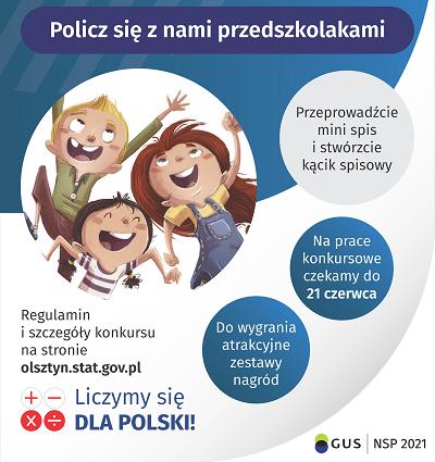 """Ilustracja do informacji: KONKURS """"Policz się z nami przedszkolakami"""""""