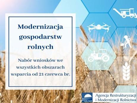 Ilustracja do informacji: Modernizacja gospodarstw rolnych